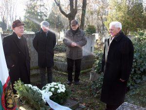 Megemlékezés Bleyer Jakab sírjánál
