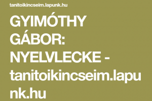 A magyar nyelv szép