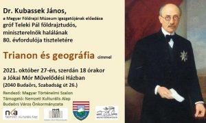 Trianon és geográfia - Dr. Kubassek János előadása